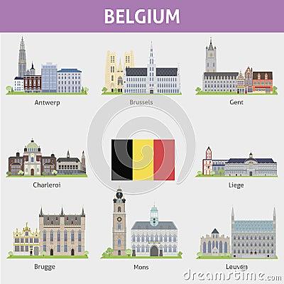 Free Belgium. Symbols Of Cities Stock Photos - 38366513