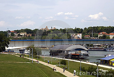 Belgrade with Kalemegdan fortress Editorial Photography