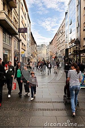 Belgrade main street Editorial Image