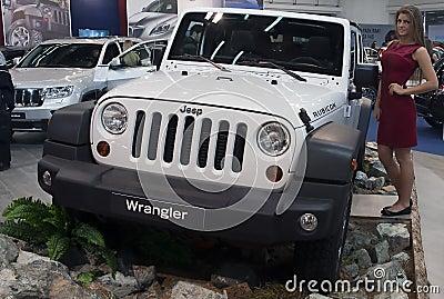 Car Jeep Wrangler Rubicon Editorial Stock Image