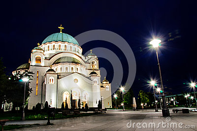 Belgrade at night
