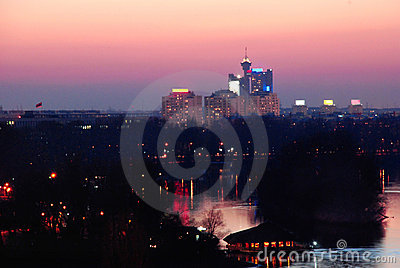 Belgrade Night View Royalty Free Stock Images - Image: 4441169