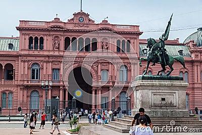 Belgrano allmän Casa Rosada Argentina Redaktionell Arkivbild
