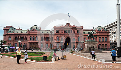 Belgrano General Casa Rosada Argentina Editorial Stock Photo