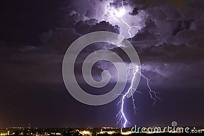 Belichtetes Thunderhead