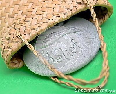 Belief stone