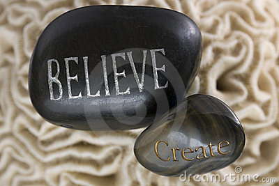 Believe Create Spa Stones Royalty Free Stock Photos - Image: 20371888