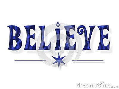 Believe Word Letters