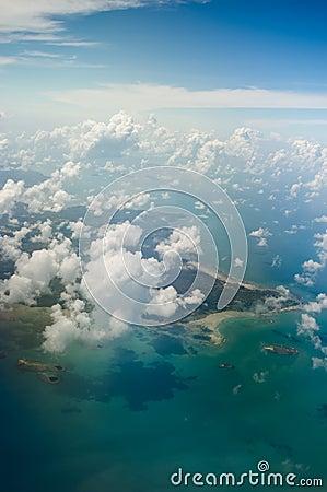 Belitung island indonesia aerial shot