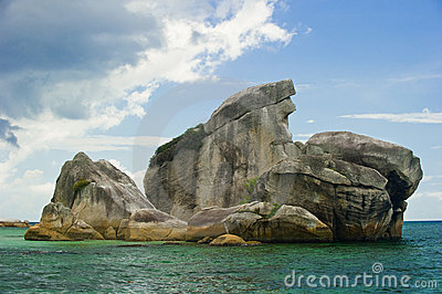 Belitung ptasi Indonesia wyspy punkt zwrotny