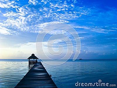 Belize wschód słońca