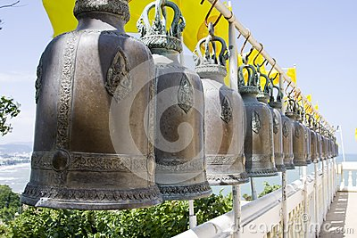 Bell in buddhist temple