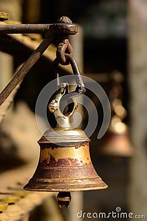 Bell in a buddhist temple in Kathmandu