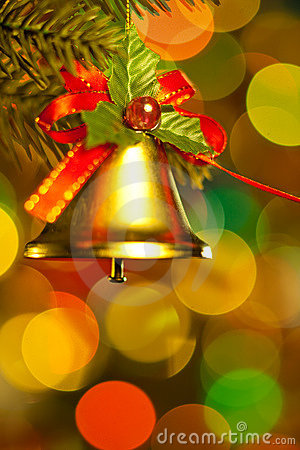 Bell on christmas tree