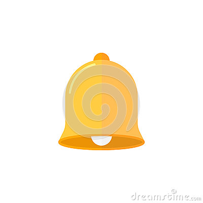 Bell flat icon, education and school element Vector Illustration