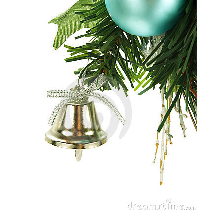 Free Bell Hanging On Christmas Tree Stock Photography - 7342082