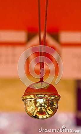 Bell in Japanese shrine