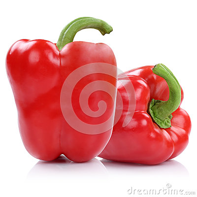 Free Bell Pepper Peppers Paprika Paprikas Red Isolated On White Royalty Free Stock Images - 70495269