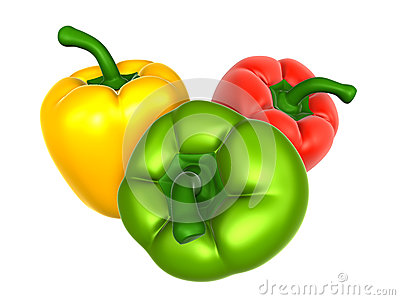 Bell pepper with variety. Foods and Dishes Series.