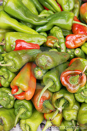 Bell peppers, capsicum annuum.