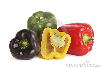 Bell peppers isolated in white background