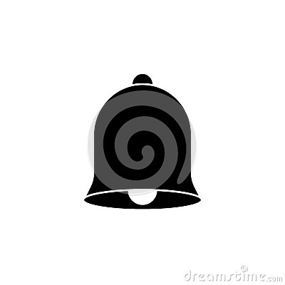 Bell solid icon, education and school element Vector Illustration