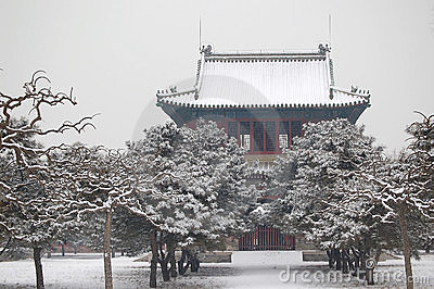 Bell temple after snow