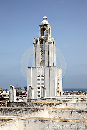 Free Bell Tower Church In Casablanca, Morocco Royalty Free Stock Photography - 33248667