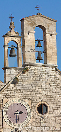 Bell tower with clock