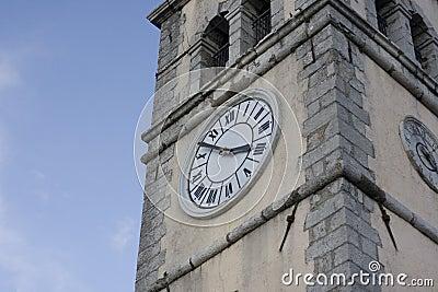 Bell tower clock