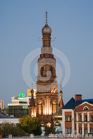 Bell tower of Epiphany Cathedral Editorial Photography
