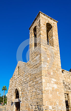 Free Bell Tower Of Panagia Chrysopolitissa Basilica In Paphos - Cypru Royalty Free Stock Images - 63637219