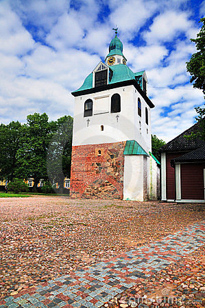 Bell tower in Porvoo, Finland
