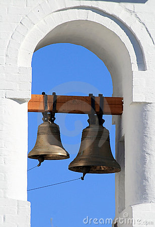 Bell tower with two bells