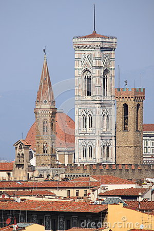 Free Bell Towers In Florence Royalty Free Stock Images - 24863799