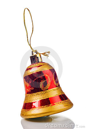 Bell toy isolated on white background