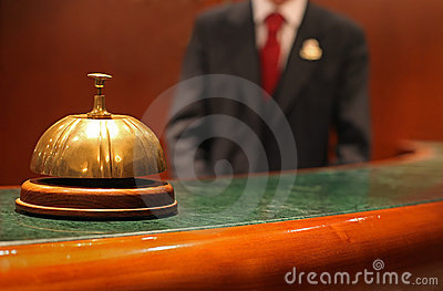 Bell and Waiter at Hotel Concierge