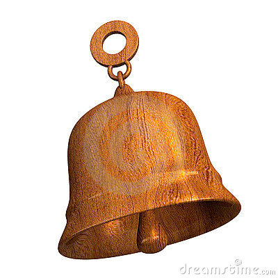 Bell in wood - 3D