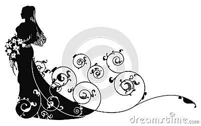 Bella priorità bassa del reticolo del vestito da cerimonia nuziale della sposa