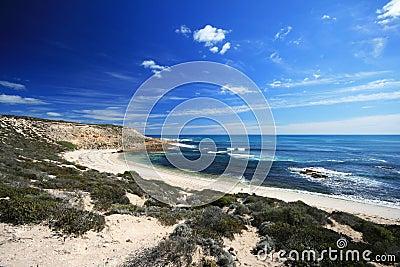 Bella sabbia di bianco della spiaggia