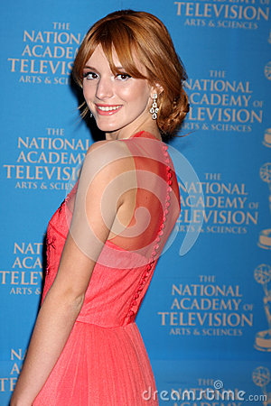 Bella Thorne arrives at the 2012 Daytime Creative Emmy Awards Editorial Photo