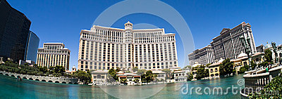Bellagio Casino and Hotel Las Vegas Panoramic Editorial Photo