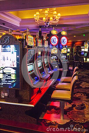 Free Bellagio Casino Room With Slot Machines Stock Photography - 38325992