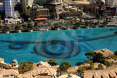 Bellagio Fountains Editorial Stock Photo