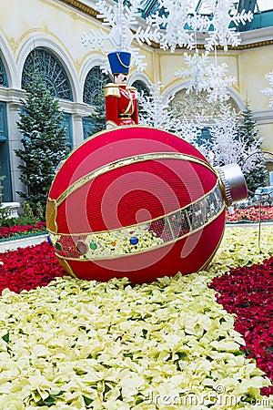 Bellagio Hotel Conservatory & Botanical Gardens Editorial Stock Image