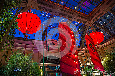 Bellagio Hotel Conservatory & Botanical Gardens Editorial Stock Image