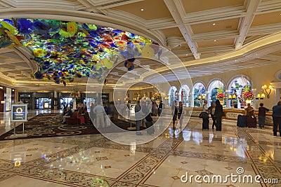 Bellagio Hotel Lobby in Las Vegas, NV on March 13, 2013 Editorial Photo