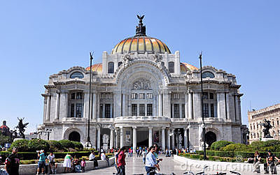 Bellas Artes Palace Mexico City Editorial Photography