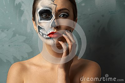maquillage halloween femme squelette. Black Bedroom Furniture Sets. Home Design Ideas