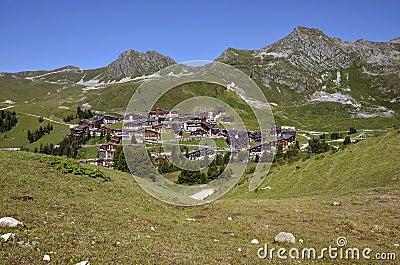 Belle Plagne village in France